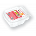 Lunch box with fork 500 ml - 4 pieces