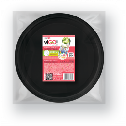 Plates, plastic black size L-10 pieces